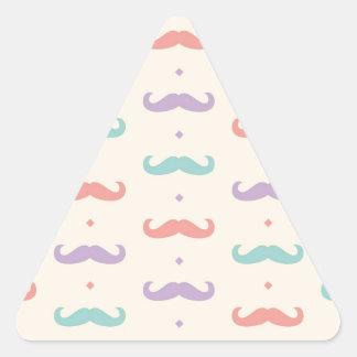 Fab pastellfärgad populär gåva för triangelformat klistermärke