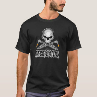 Fabricatorskalle: Korsade facklor Tee Shirt