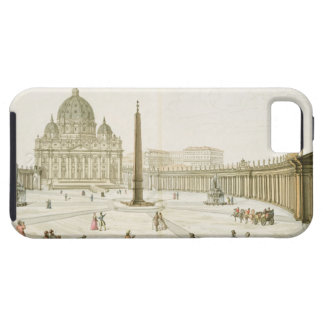 Facade av St Peter i Rome med piazzaen i f iPhone 5 Case-Mate Skydd