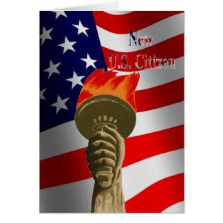 Fackla av för U.S.-medborgare för frihet det nya Hälsningskort