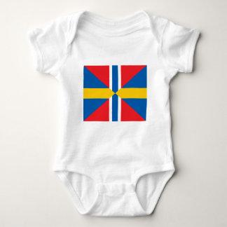 Facklig flagga för norgesverige t shirt