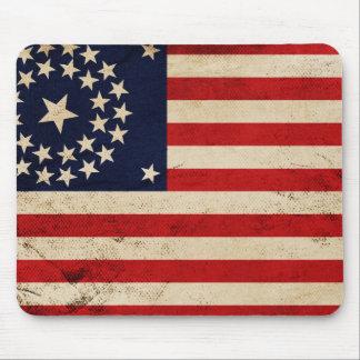 Facklig flagga för vintage musmatta