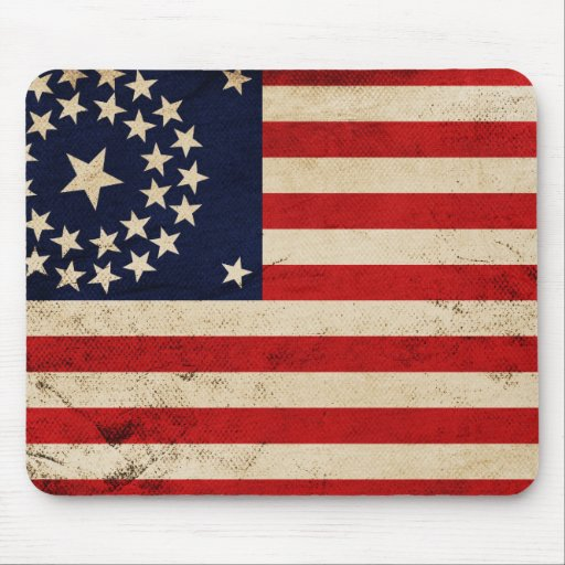 Facklig flagga för vintage mus matta