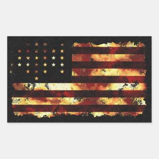 Facklig flagga, inbördeskrig, stars och stripes, U Rektangelformat Klistermärke