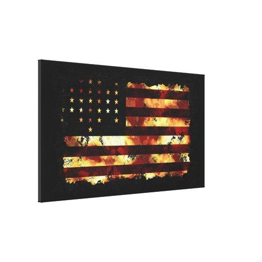 Facklig flagga, inbördeskrig, stars och stripes, U Canvasduk Med Gallerikvalitet