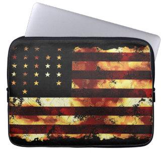 Facklig flagga, inbördeskrig, stars och stripes, U Laptop Datorfodral