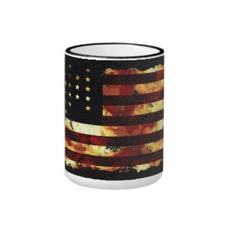 Facklig flagga inbördeskrig stars och stripes U Kaffe Muggar