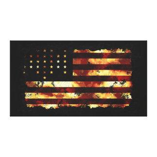 Facklig flagga, inbördeskrig, stjärnor & randar, U Canvastryck