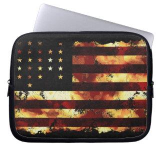 Facklig flagga, inbördeskrig, stjärnor & randar, U Laptopskydd