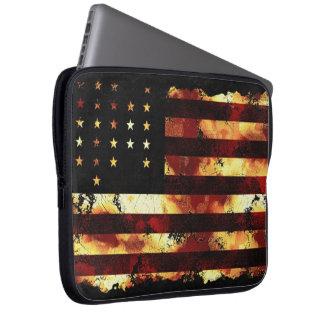 Facklig flagga, inbördeskrig, stjärnor & randar, U Laptopskydd Fodral