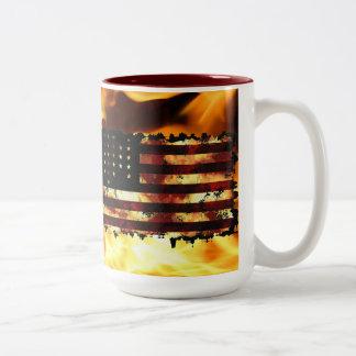 Facklig flagga inbördeskrig stjärnor randar U Kaffe Koppar