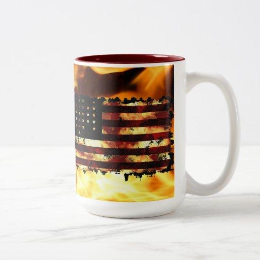 Facklig flagga, inbördeskrig, stjärnor & randar, U Kaffe Koppar