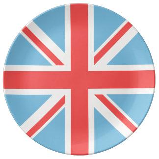 Facklig flagga/jackdesignkräm som, är ljusa - porslinstallrik