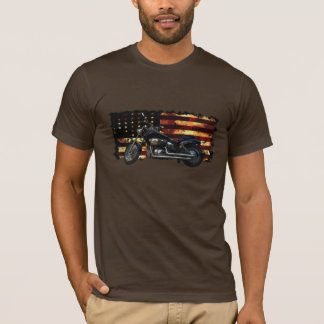 Facklig flagga, stars och stripes, motorcykel, Hog Tshirts