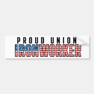 Facklig Ironworker Bildekal