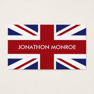 Facklig jack, brittisk flagga, United Kingdom Visitkort