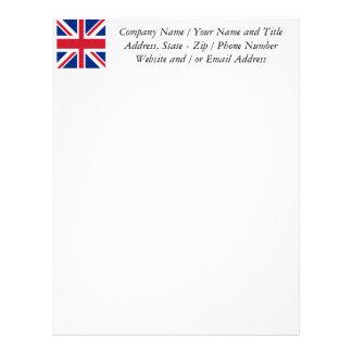 Facklig jack - flagga av Förenade kungariket Brevhuvud