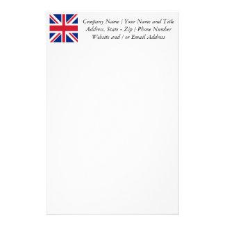 Facklig jack - flagga av Förenade kungariket Brevpapper
