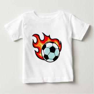 Facklig jack för flammande boll t shirt