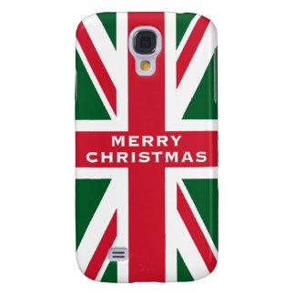 Facklig jack~ för jul som är röd som är grön och galaxy s4 fodral