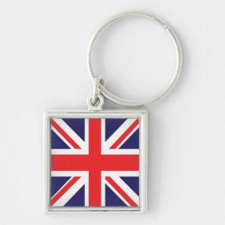 Facklig jack Keychain Fyrkantig Silverfärgad Nyckelring