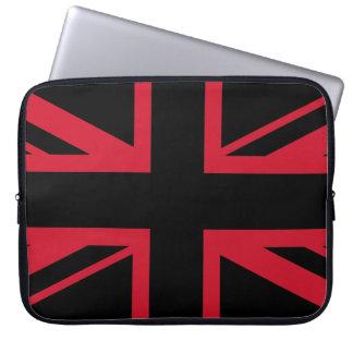 Facklig jack~-svart och rött laptop sleeve
