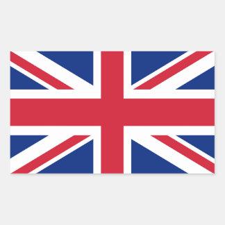 Facklig jackflagga av UKEN - autentisk version Rektangulärt Klistermärke