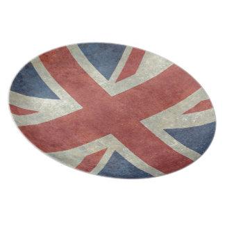 Facklig jackflagga av UKEN - retro vintage Tallrik