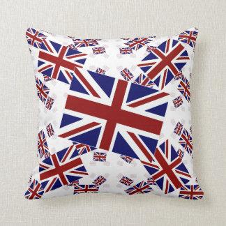 Facklig jackflagga för UK i lagrar snett Prydnadskudde