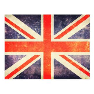 Facklig jackflagga för vintage vykort