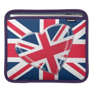 Facklig jackflagga och hjärtaRickshawsleeve Sleeve För iPads