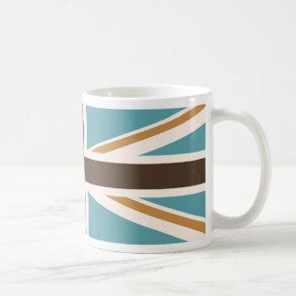 Facklig kräm för jack-/flaggakrickabruntguld kaffemugg