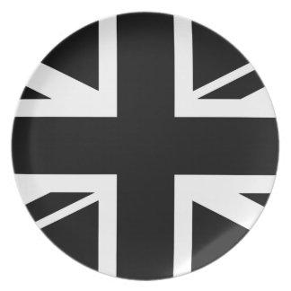 Facklig svartvit jack~ tallrik