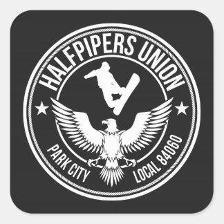 Fackliga Park City Halfpipers Fyrkantigt Klistermärke