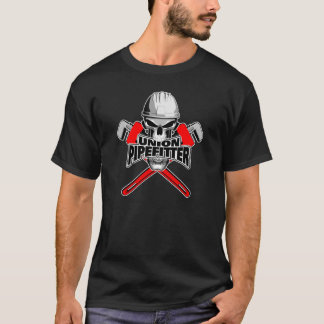 Fackliga Pipefitter: Skallen och rycker häftig T Shirt