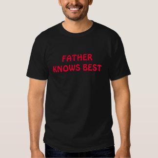 FADERN VET den BÄST T-tröja T-shirts