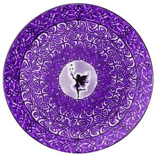 Fae andlig läka Mandala Porslinstallrik