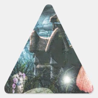 Fae magi triangelformat klistermärke