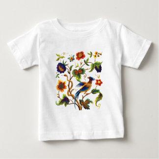 Fågel av Jacobean broderi för paradis T-shirts