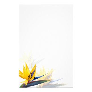 Fågel av tomt handstilpapper för paradis brevpapper