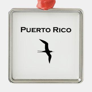 Fågel för Puerto Rico manO krig Julgransprydnad Metall