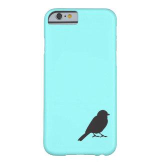 Fågel för svala för blått för Sparrowsilhouette Barely There iPhone 6 Fodral