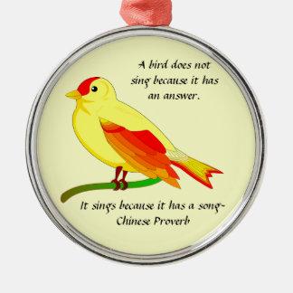 Fågel/kinesisk Proverbprydnad Julgransprydnad Metall