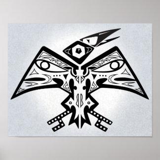 Fågel-Man - indiankonstaffisch 11x14 Poster