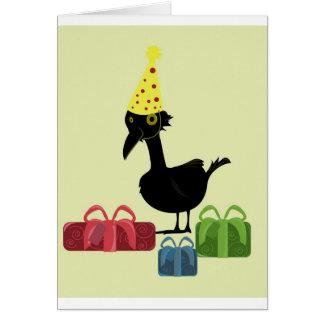 Fågel med gåvor hälsningskort