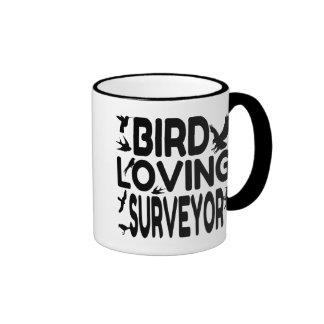 Fågel som älskar inspektör kaffe kopp