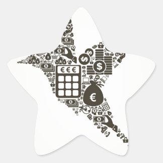 Fågelaffär Stjärnformat Klistermärke