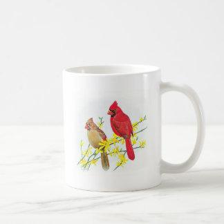 Fågelmugg - kardinaler kaffemugg