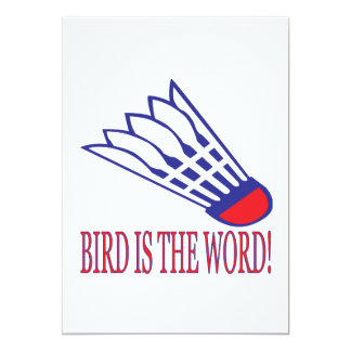 Fågeln är ord 2 12,7 x 17,8 cm inbjudningskort