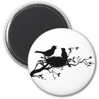 Fågeln bygga bo magnet rund 5.7 cm